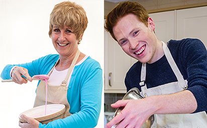 Festival of Food & Drink - Celebrity TV Chefs Andrew Smyth and Jane Beedle Great British Bake Off