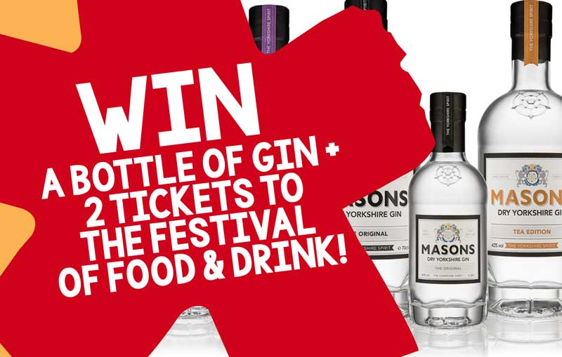 The Festival of Food & Drink 2018 - COMPETITION Win Limited Edition Masons Gin